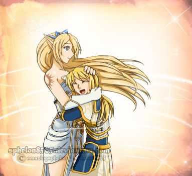 League of Legends|Tranquil Affections|Janna X Lux by sphelon8565