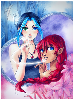 Commission - Daeva and Keicea by Firefly-Raye