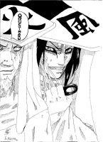 orochimaru and hokage by fetine