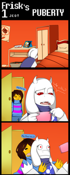 Frisk's puberty! 1 ''The sanitary towels'' by Juanis12345