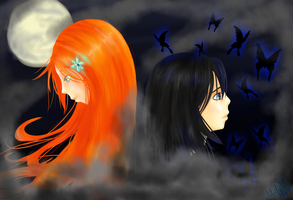 Request: Rukia an Orihime by ViridiVulpes