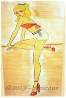Sousie pin up girl by papirous