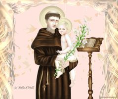 San Antonio de Padua St. Anthony of Padua by kittychiii