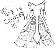 EGL Grad Dress Design-- Front by bryars-and-thornes