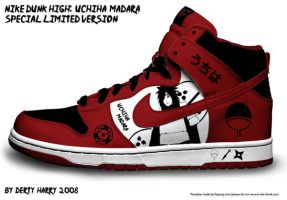 Nike Dunk High: Uchiha Madara by DertyHarry