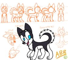 REDESIGN - Blizzard the Siberian Husky by AhO4464