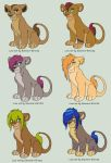 Lionesses for adoption by Zari-Adoptables