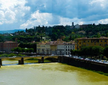 River in Florence by Alphasnivylove