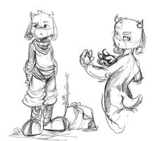 Goat Kid sketches by GatoDelCielo