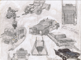 Twisted Metal One Vehicles by Azthmehr