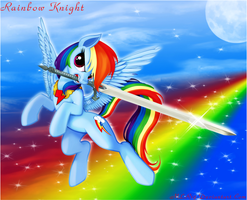 Rainbow Knight by FlutterDash75