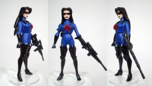 Baroness Blue Armor Custom Figure by GeekVarietyDotCom
