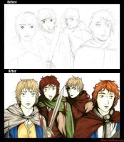 Concerning hobbits - before and after by molly666morris
