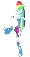 Equestria Girls - Rainbow Dash by SJArt117