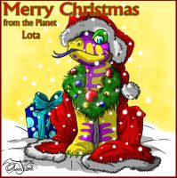 Merry Christmas from Planet Lota to all by OrochiTiamat