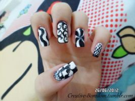 Black and white nails pt.1 by anacarolinaaf