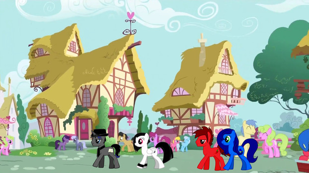 Regular Day in Ponyville w/ Epic Fable and posse 2 by ZMasterskull