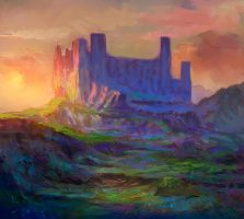 Desolate castle by elbardo