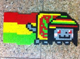 Rasta Nyan cat by Birdseednerd