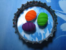 Sushi bottle cap magnet by skookyspry