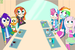 MY LITTLE RANDOM Equestria Charaters redraw screen by Darkwing-Gadget