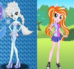 Equestria Girls Elsa And Anna by TigerPrincessKaitlyn