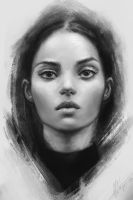 charcoal portrait by aynnart
