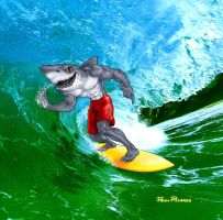 Surfer Shark by PRALMEIDA