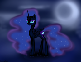 Nightmare Moon without armor by HarmoniousRain