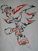 Shadow the Hedgehog Tribal by ArchangelVampire