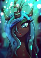 Queen Chrysalis - oh hello there by Rariedash