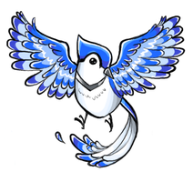 Blue Jay Tattoo Design by MandyPandaa