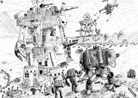 Clash of the titans by p47thunderbolt