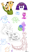 Monsters University Doodles by Asp3ll
