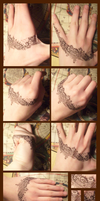 Drawing on hands by Tigrantia