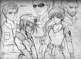 Resident Evil Cast by ViperXtreme