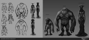 Monster Race Concepts by SilentIvo