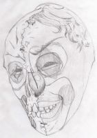 Nightmare Mask, rough sketch. by DaveLuck
