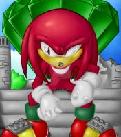 Knuckles the Echidna by SonicTheDerp
