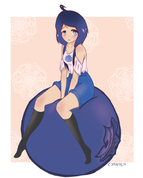 Blueberry Girl by Cyanyeh