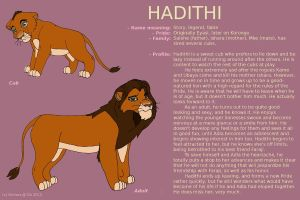 Character Sheet - HADITHI by Nichers