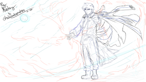 FMA : Roy Mustang sketch by shadowhatesomochao