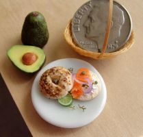 1:12 Scale Lox Bagel by fairchildart