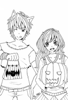 Halloween thingy lineart by HatoriKumiko