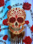 Sugar Skull and Roses by darcydoll