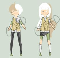 Adoptable Twins [Closed] by eatmypantsu