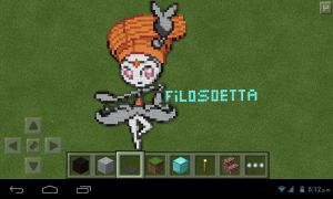 Meloetta pirouette form (minecraft) by Andres97100