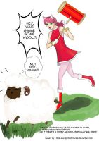 Vanille as Amy Rose and Sheep by StarlightMemories