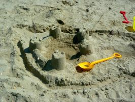 castle made of sand #1 by st2wok