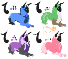 Kaijin Adoptables :closed: by Yumisnax